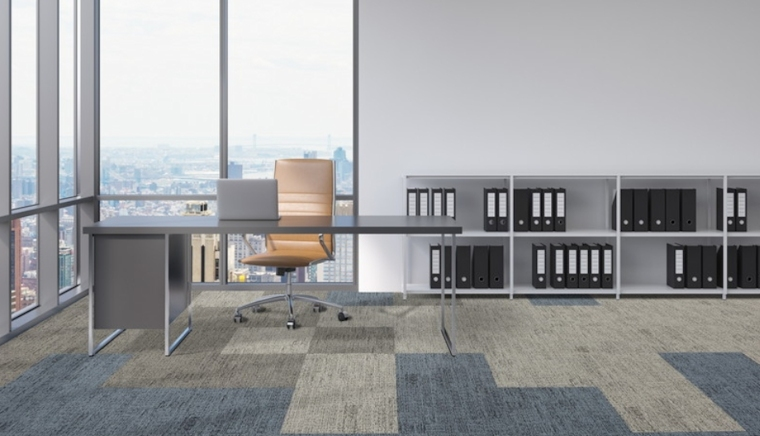Carpet tiles in a high-rise office