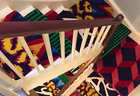 Beautiful bespoke patchwork stair runner