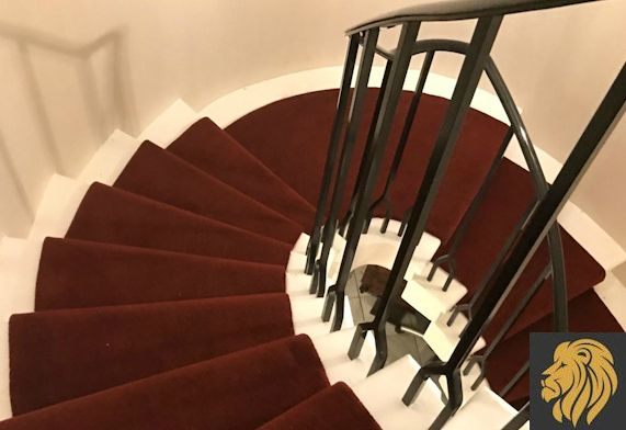 Cavendish deVere red spiral stair runner