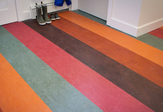 Cavendish deVere Striped Marmoleum flooring