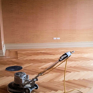 Engineered and fitted wooden floor in London
