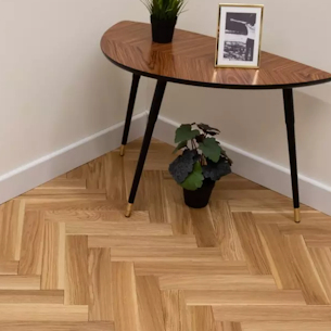 Parquet style wooden floor domestic property London
